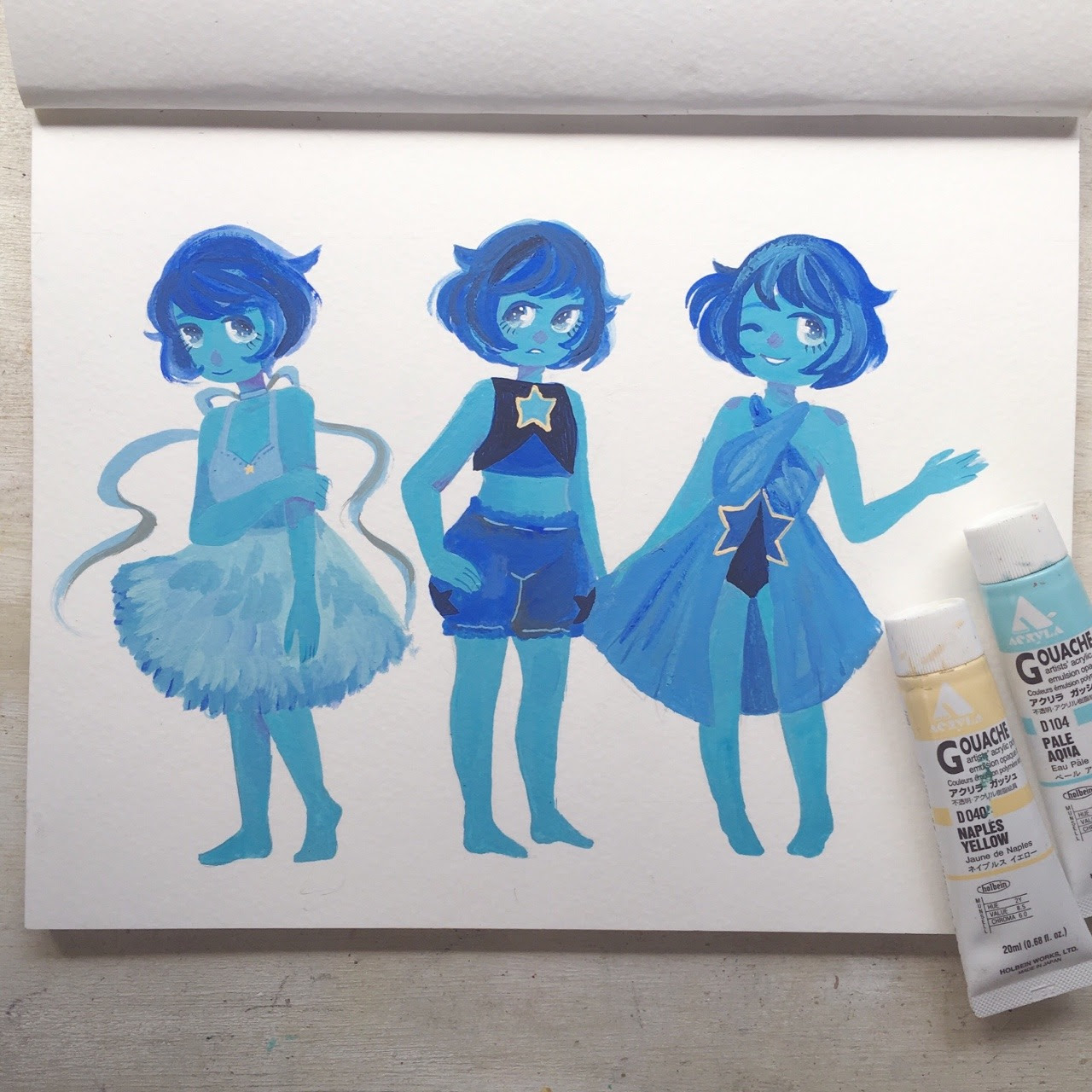 Lapis doodles! I want to see more of her~