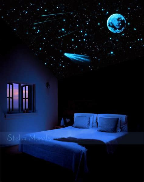 stunning outer space decorations  bedroom idea