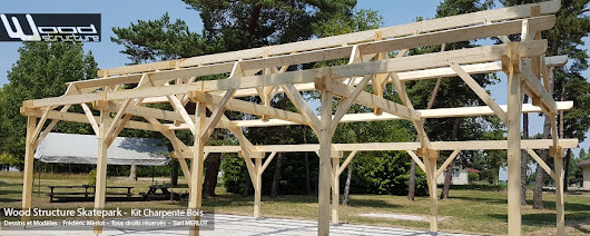 Kit Charpente Bois - Bâtiment - Garage - Abris - Wood Structure
