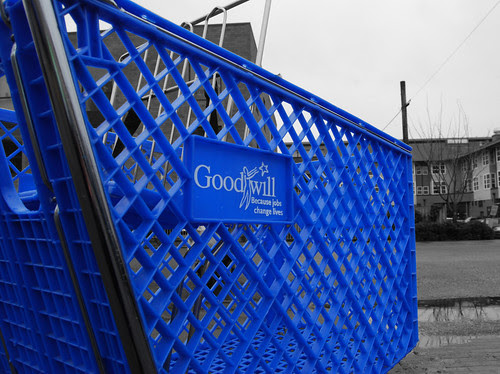 goodwill cart bw