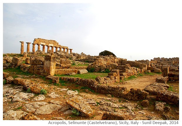 Acropolis, Selinunte, Castelvetrano, Sicily, Italy - images by Sunil Deepak, 2014