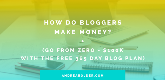 HOW DO BLOGGERS MAKE MONEY + (THE 365 DAY BLOG PLAN PRINTABLE)