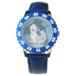 cute border collie dog with blue teddy bear wrist watches