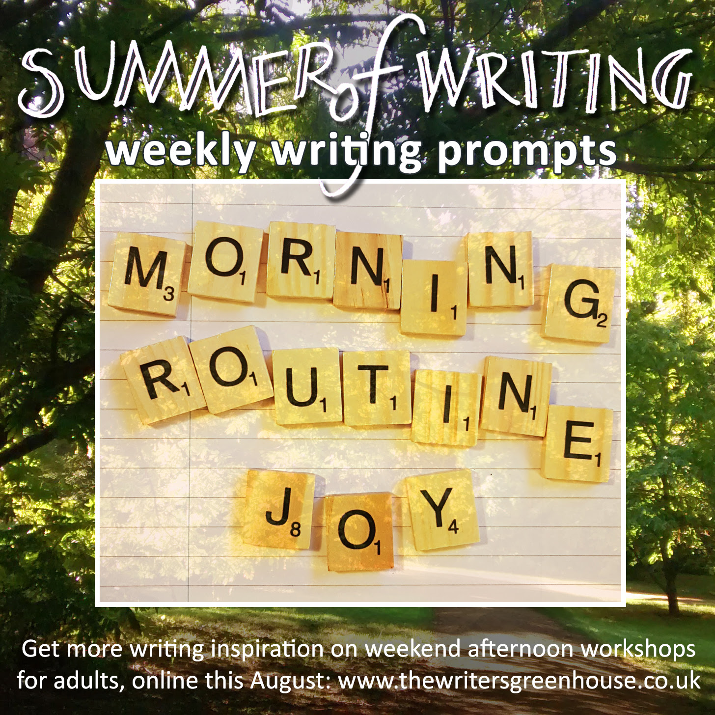 Scrabble letters: Morning Routine Joy