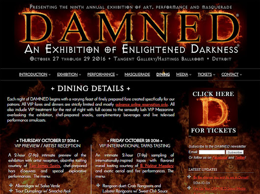 Dining | DAMNED Exhibition of Enlightened Darkness