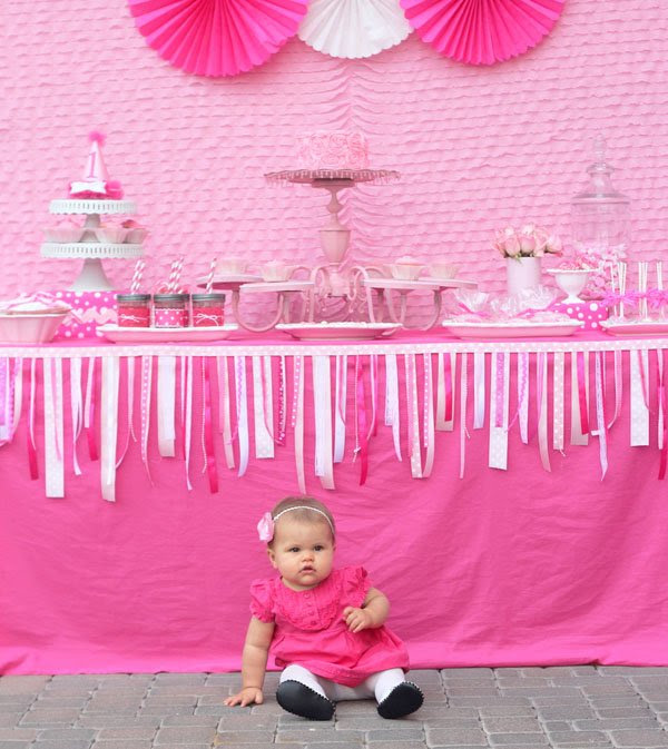 Adorable Pretty In Pink 1st Birthday Party Hostess With The Mostess