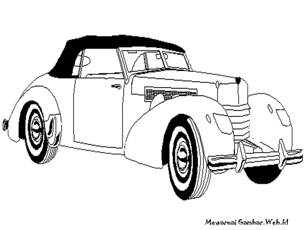 Mewarnai Mobil Antik Mewarnai Gambar Mewarnai Gambar