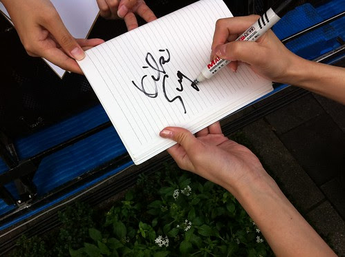 Kiki's autograph