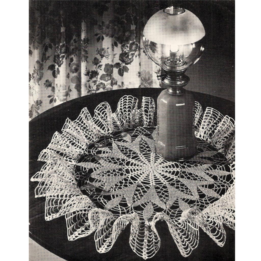 Ruffled Crochet Doily Pattern, Spring Crocus
