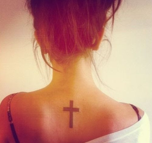 Small And Pretty Back Cross Tattoo Tattoomagz