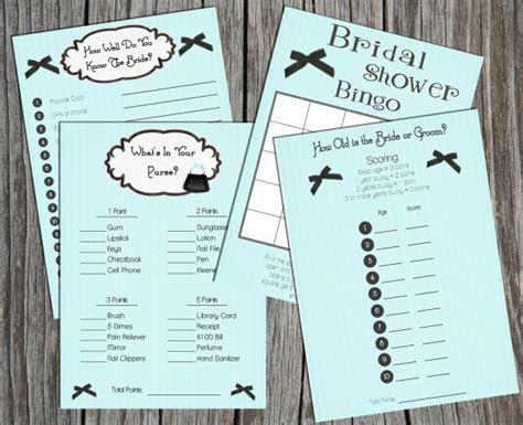 Download Bridal Shower Game set (Tiffany Blue)   Print