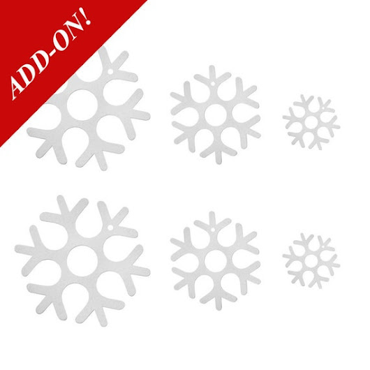 Wool Felt Snowflake Ornaments  6 Pack Add-On Item by TheFeltStore