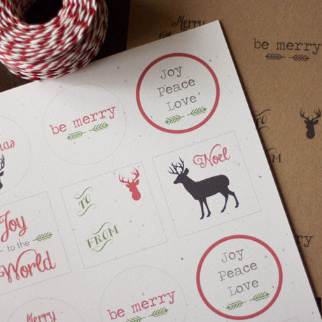 free printable christmas holiday gift tags farmhouse