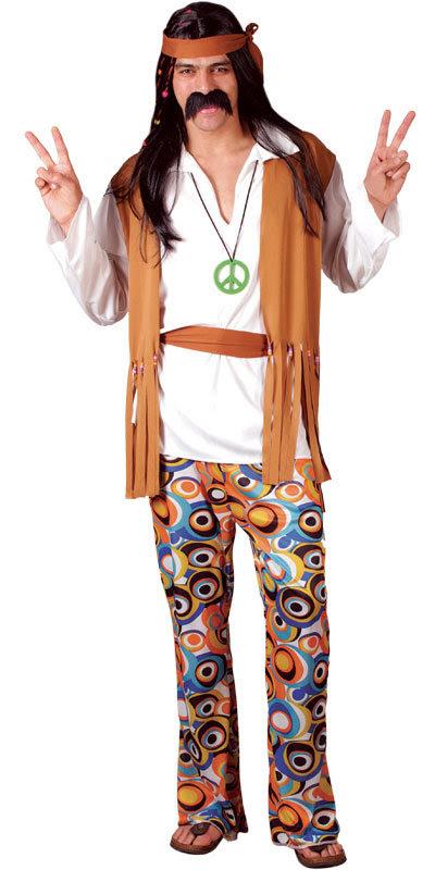 1960s Hippie Woodstock Hippy Style Mens Fancy Dress ...