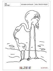 Flamingo Boyama Sayfaları