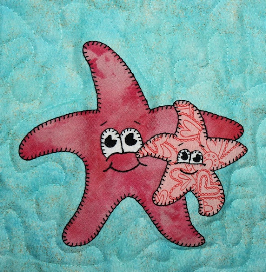 Sea stars PDF applique pattern Mother's Day ocean | Etsy