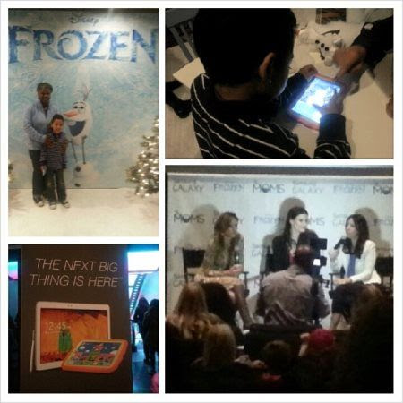 TheMoms and Samsung Galaxy FROZEN Movie event with Idina Menzel