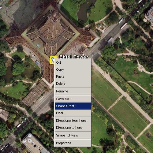 Google Earth共享发布地标详解