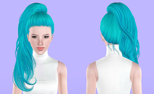 Newsea`s Sweet Villain hairstyle retextured by Porcelain Warehouse - Sims 3 Hairs