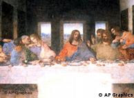 Detail of 'The Last Supper' by Leonardo da Vinci