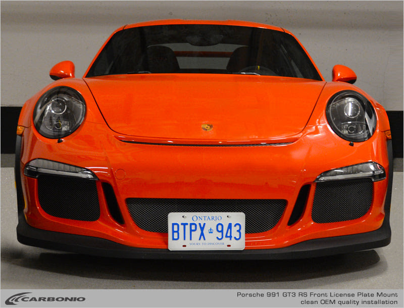 Porsche 991 9912 Gt3 Gt3 Rs License Plate Mount