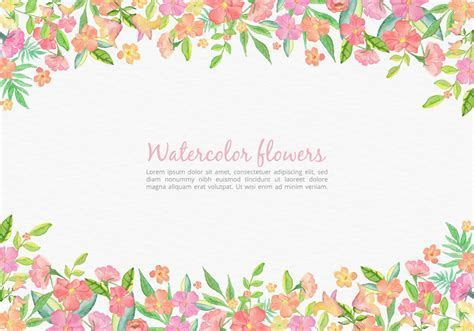 Free Vector Watercolor Pink Floral Card For Wedding