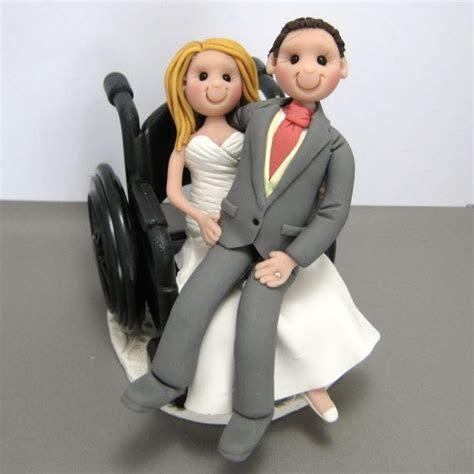 Bride in wheelchair with groom sitting on her lap. custom
