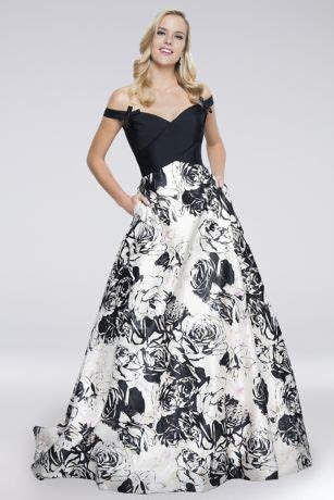 Bow Tied Off the Shoulder Mikado Ball Gown   David's Bridal