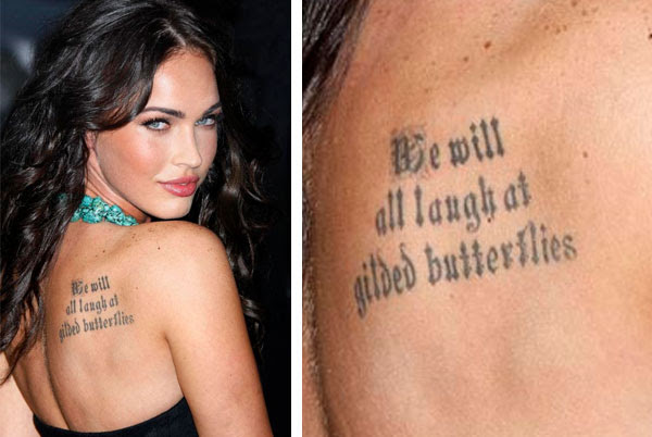 We Will All Laugh At Gilded Butterflies Megan Fox All My Love