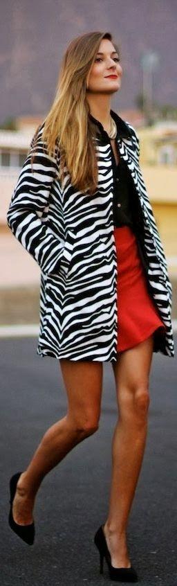 Awesome zebra color jacket