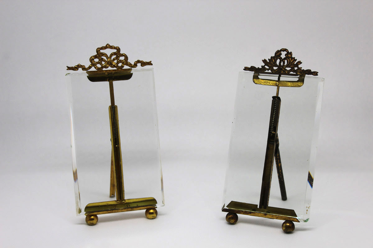 Early 19c French Photo Frames With Beveled Glass The French
