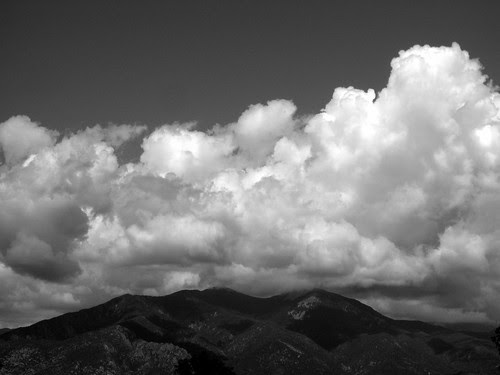 Clouds over Taos mountain