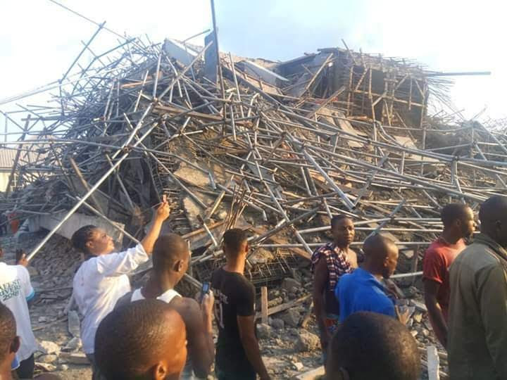 7-storey building collapses in Port Harcourt