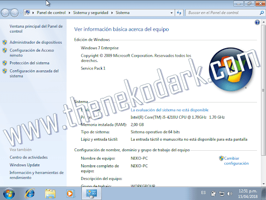 Windows 7 Enterprise SP1 x32/x64 Bits ISO Original Español