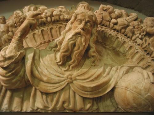 escultura de dios fondo