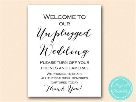 Wedding Signs, Unplugged Ceremony Sign   Bride   Bows