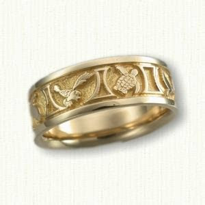 Nautical Themed Wedding Rings: affordable & unique gold