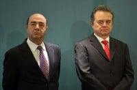Jesús Murillo Karam, representante de Enrique Peña Nieto para asuntos jurídicos, acompañado del líder del PRI, Pedro Joaquín Coldwell. Foto: Germán Canseco