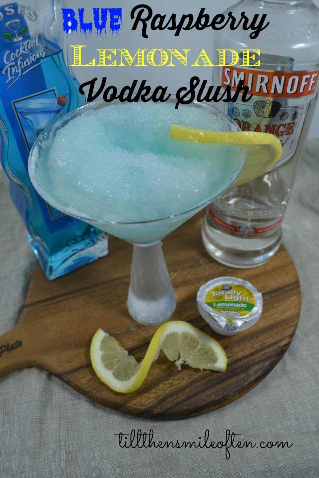 Blue Raspberry Lemonade Vodka Slush