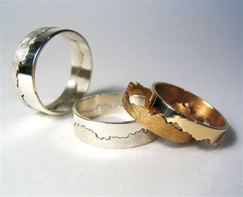 Men's Coastline Map Ring   Stretches, Ring and Create