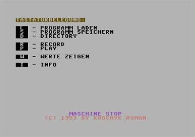 Software RobotArm para C64