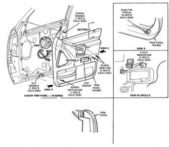 Ford Taurus Interior Door Parts Diagram Wiring Circuit