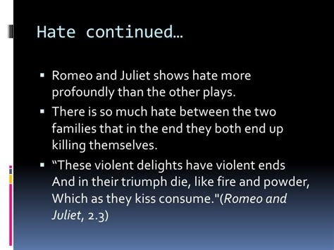 Shakespeare Quotes Love And Hate