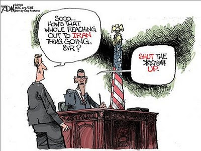 Image result for obama bullied by iran cartoons