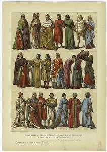 Edad media - trajes de los ita... Digital ID: 810498. New York Public Library