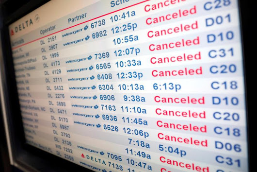 All flights canceled at New York's JFK airport due to snowstorm
