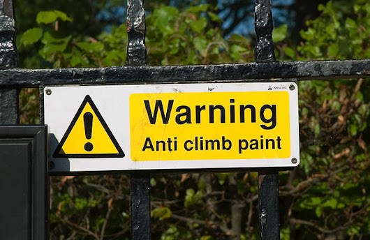 There Is Such a Thing as Anti-Climb Paint - Knowledge Stew