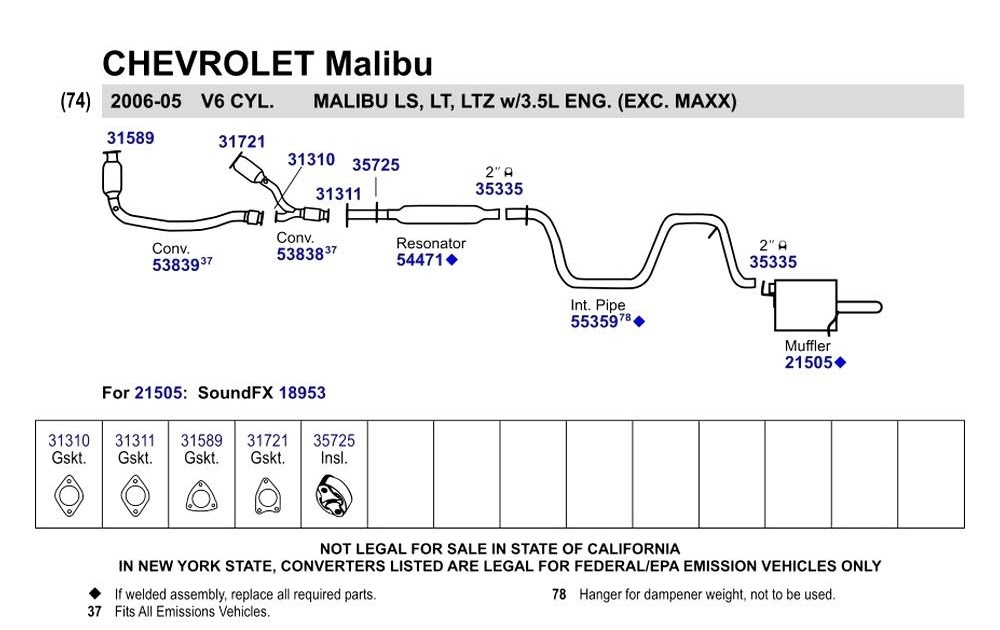 31 2004 Chevy Malibu Exhaust System Diagram