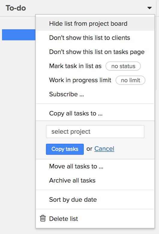 New features: bulk copy and move tasks, subscribed tasks and more