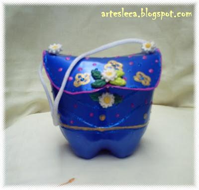 Bolsa de Garrafa PET Azul